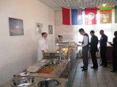Les Roches, students in Restaurant